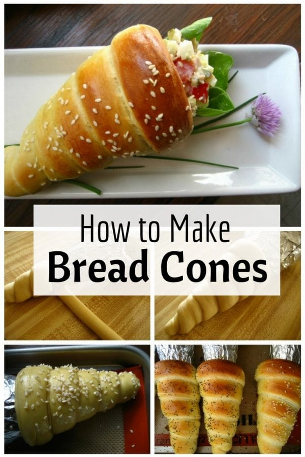 Delicious, easy-to-make bread cones that are lovely to look at. Great for all types of occasion.