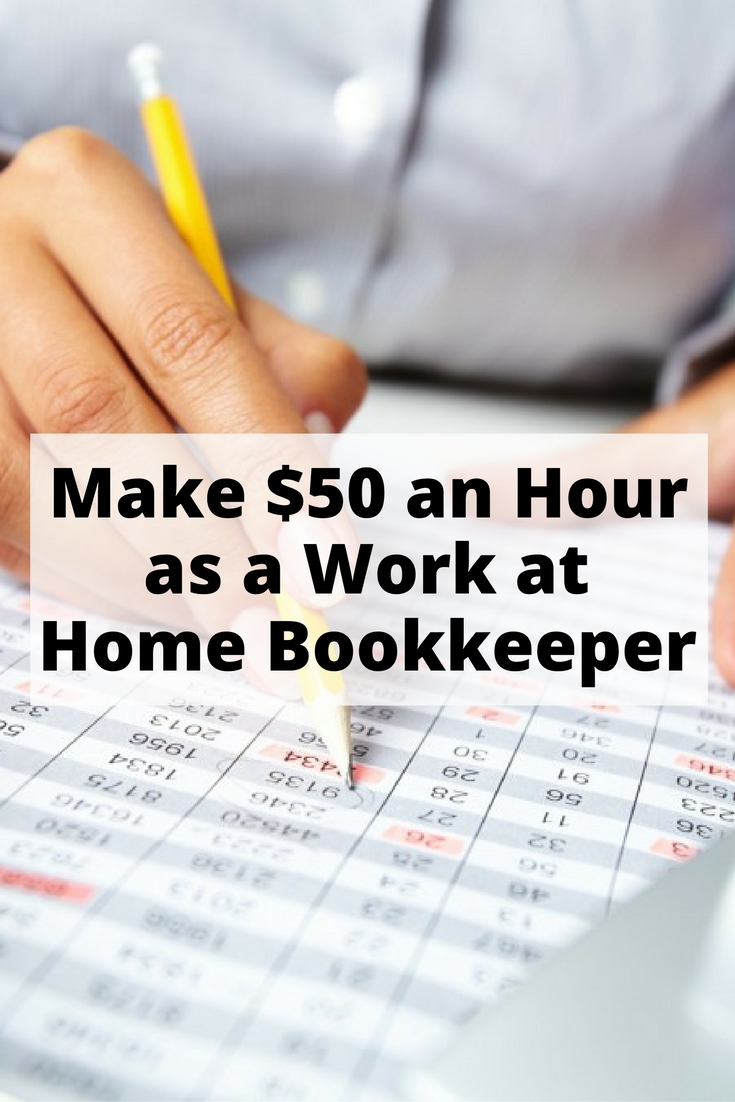 How To Earn 50 An Hour As A Homebased Bookkeeper The