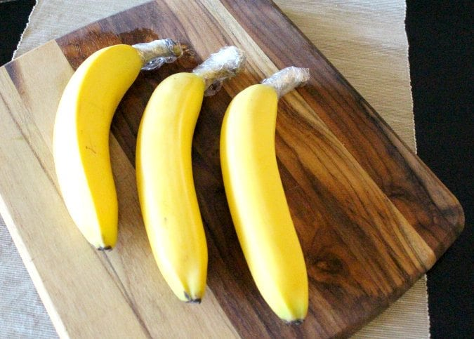 bananas in foil