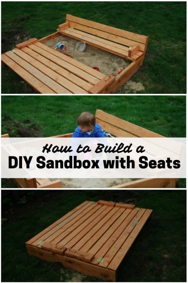 Kids will surely enjoy the last days of summer with this smart DIY sandbox with seats. It is a good place to learn, play and bond.