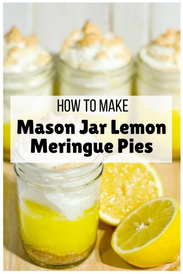 Beautiful, mouthwatering meringue pies put in a mason jar. A cool, refreshing treat for the family.