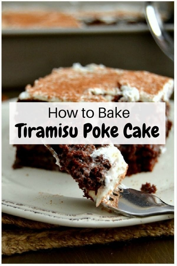 Moist, rich and tasty tiramisu poke cake that all coffee-lovers will adore. A cake that will surely complete your day.
