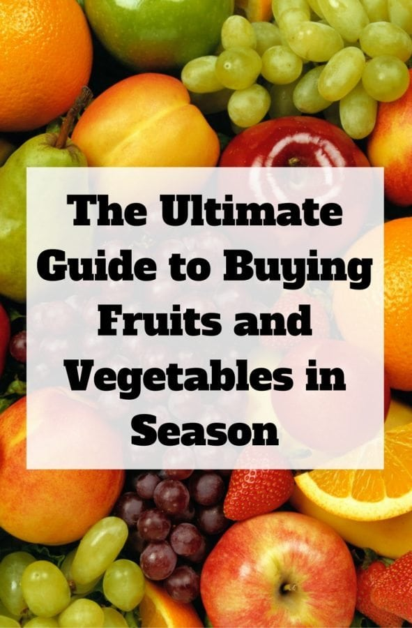 Here is the ultimate guide of what fruits and vegetables to buy per season. With this, you can save a lot and you have freshest and healthiest for each month.