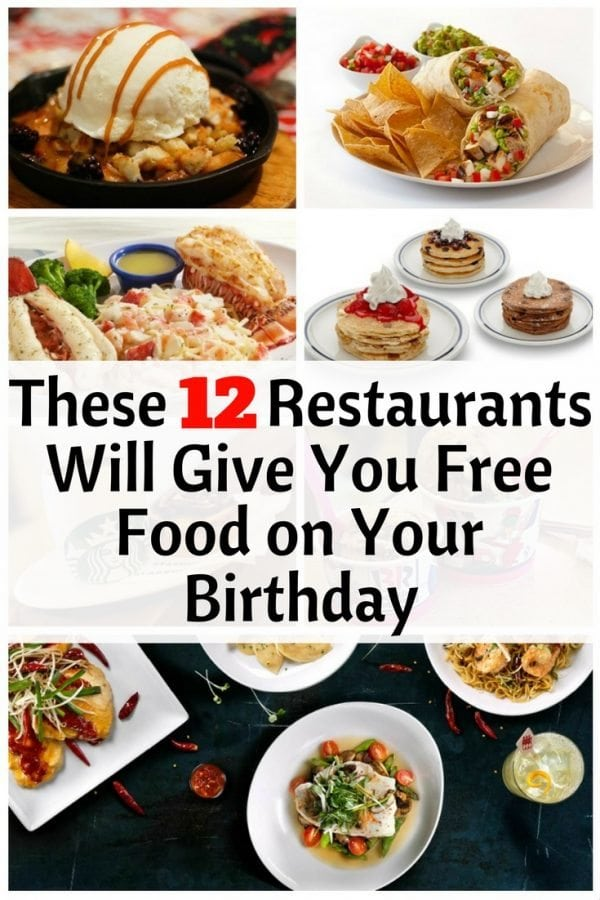 food you can get for free on your birthday