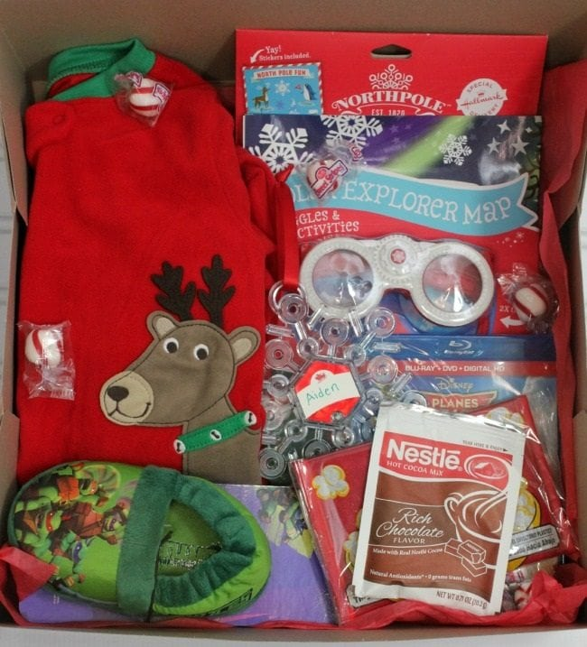 An eve box full of little and special gifts for then family. It is simple but meaningful.