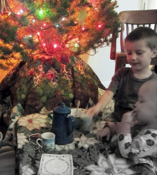 We can have the entire family around the Christmas tree for a good and satisfying picnic as you wait for midnight.