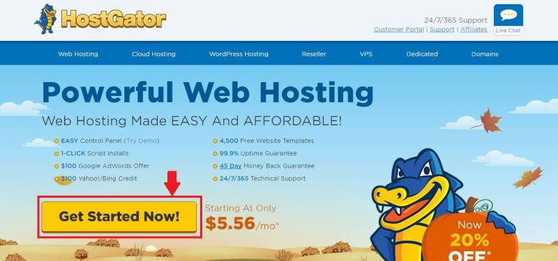 Visit the HostGator website to get started with your blog and start earning.