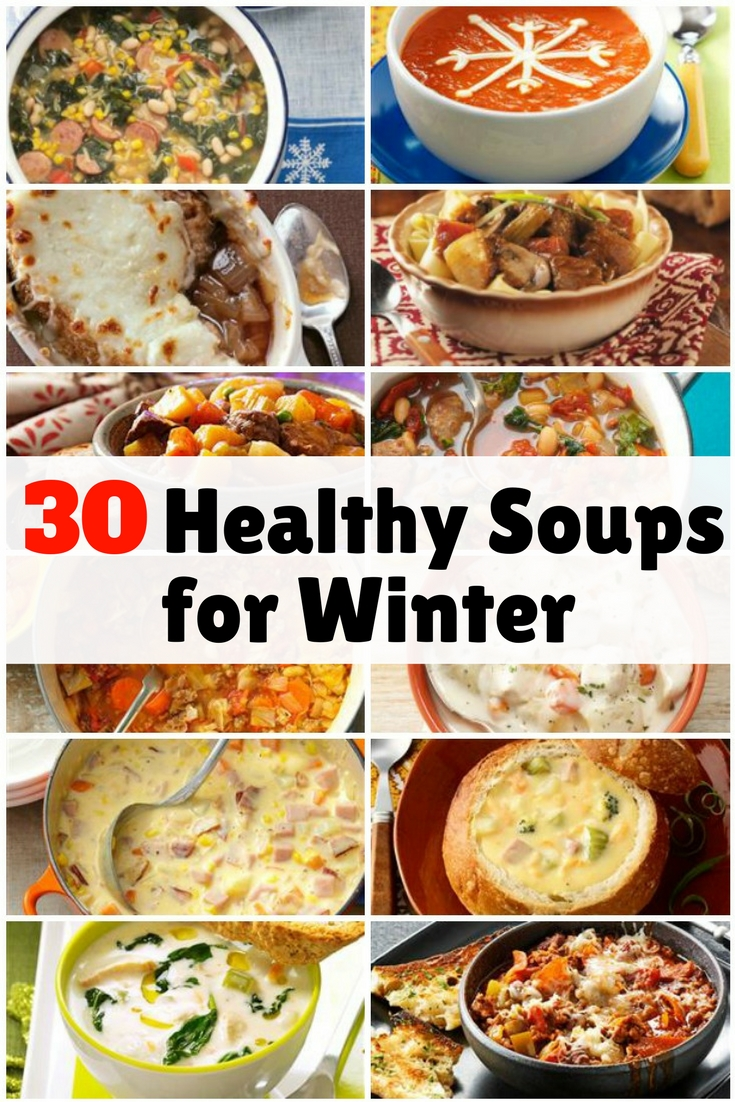 Beat the winter cold with these healthy, tasty soups made from hearty ingredients. They are definitely easy to prepare.