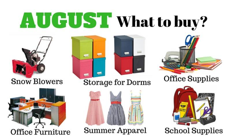 It is back to school. You may find these items on great discounts.