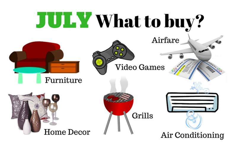 Fourth of July is here! You may find these items on sale.