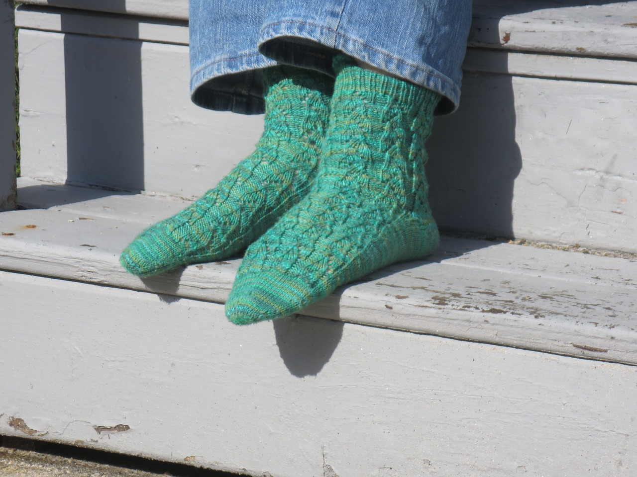 Socks trap the heat, warming you up for the winter days.