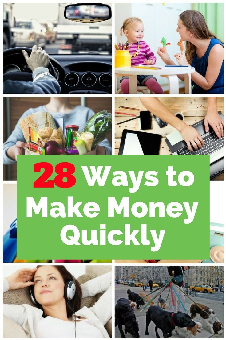 fast ways to earn money 28 ways to make money quickly the budget diet 9183