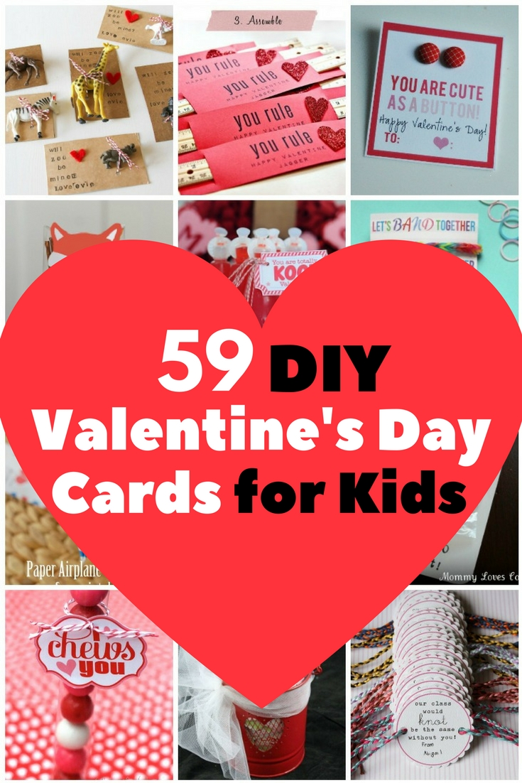 59 DIY Valentineu0027s Day Cards For Kids