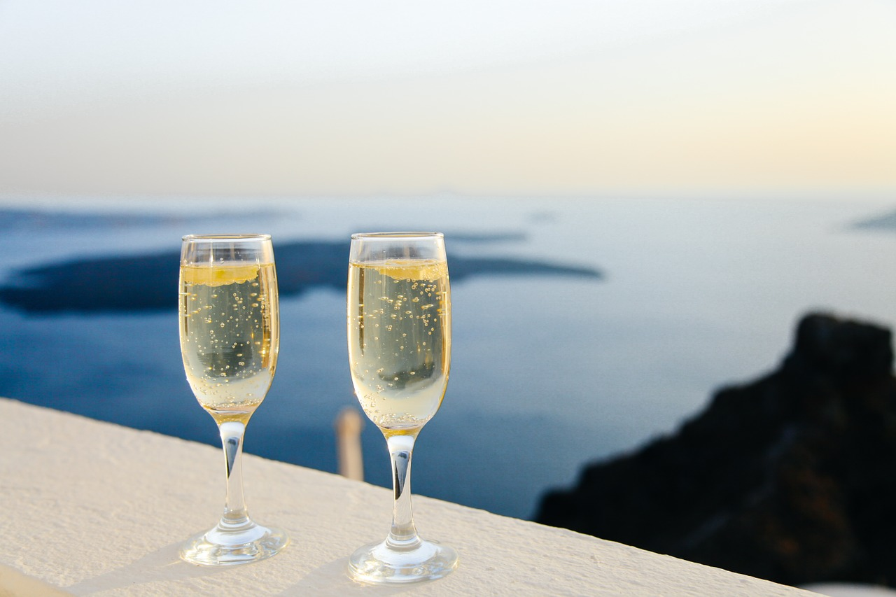 A toast of sparkling wine to celebrate your love this Heart's Day.