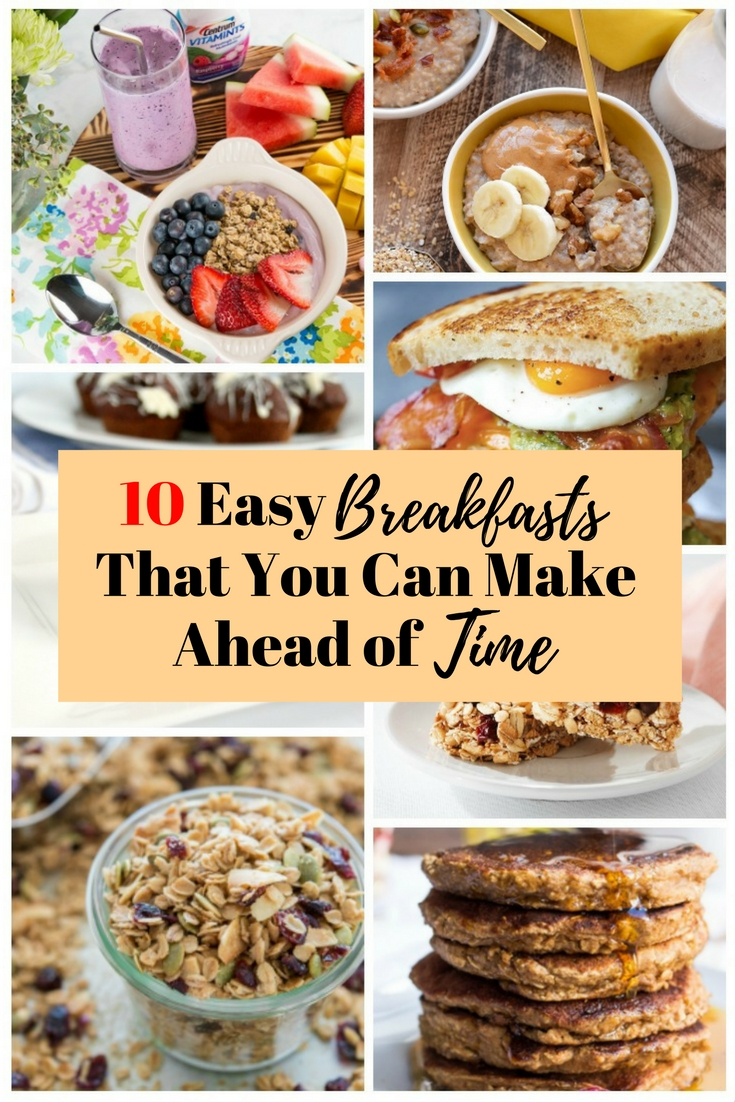 Start your day with healthy and tasty breakfast that is easy to prepare. Remember, breakfast is the most important meal of the day.