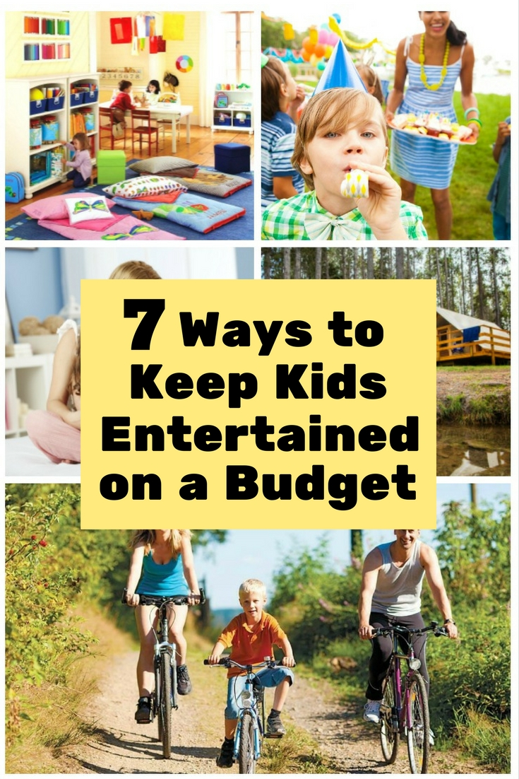 Kids get bored easily. Here are some ways to keep them entertained on budget.