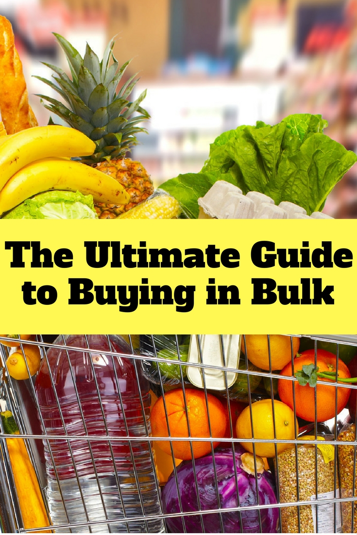 Buying in bulk is one way to save money, save time and save effort. It should be part of every frugal family.