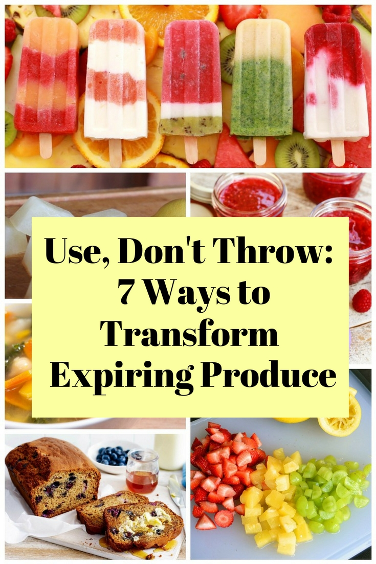 Don't throw away yet those expiring produce because you can transform them into delicious treats you and your kids will enjoy.