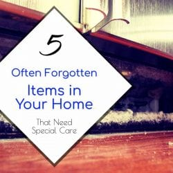 5 Often Forgotten Items in Your Home that Need Special Care