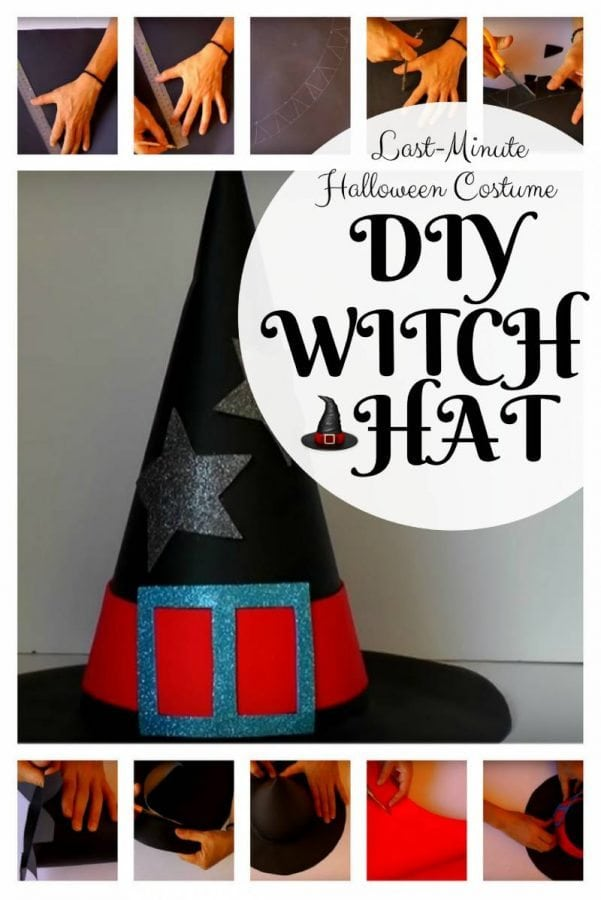 Cast spells on your neighbors with this DIY Witch Hat. It is simple and inexpensive to make. Kids will surely love it!