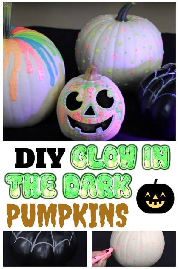 Bring a colorful twist to your pumpkins with this DIY glow-in-the-dark pumpkin. It's fun and easy to make with the kids.