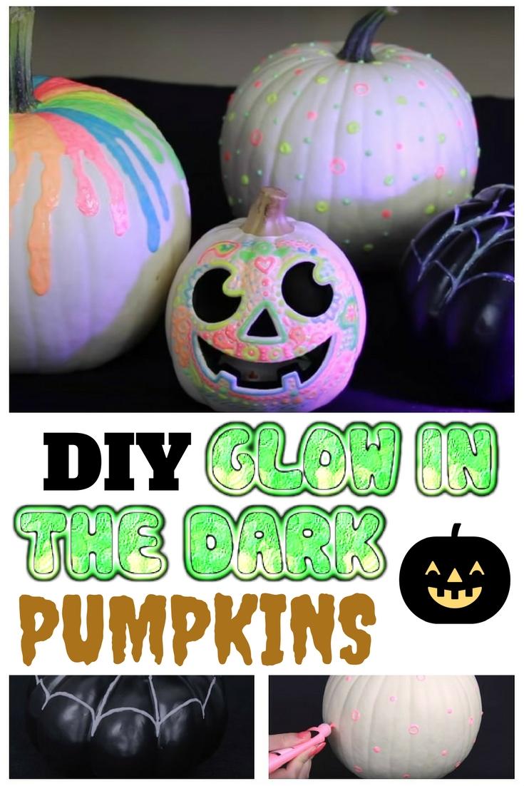 Diy glow in the dark pumpkins the budget diet for Glow in the dark paint for real pumpkins