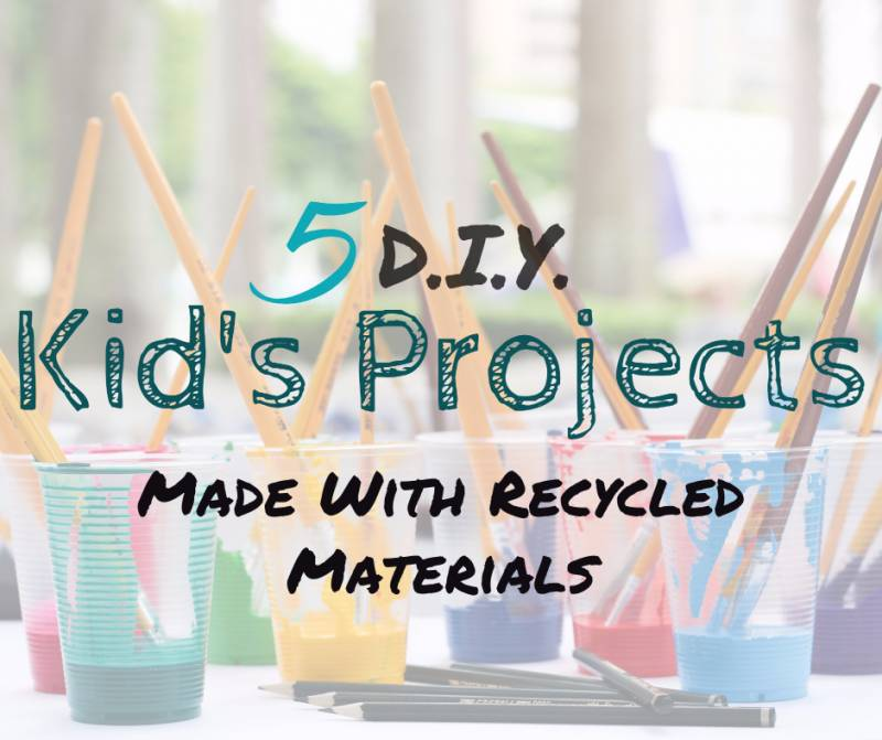 5 Diy Kid S Projects Made With Recycled Materials The Budget Diet