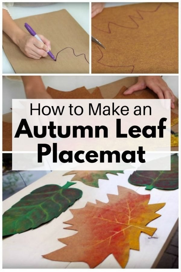 Add fall colors to your home with DIY fall leaf placemats. Celebrate the harvest season with this project!