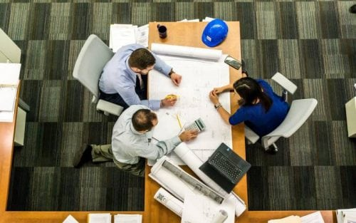 people working together at a table