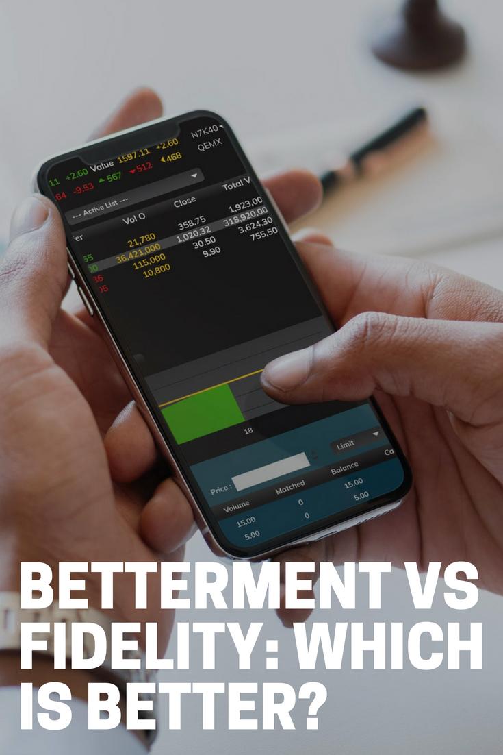 Betterment vs Fidelity