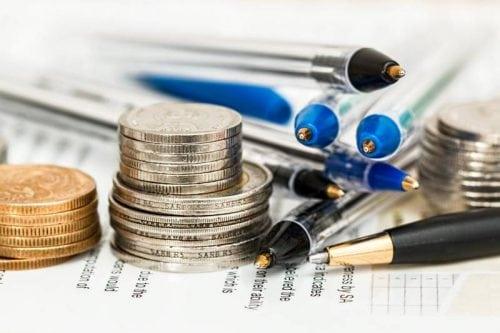coins cash pen