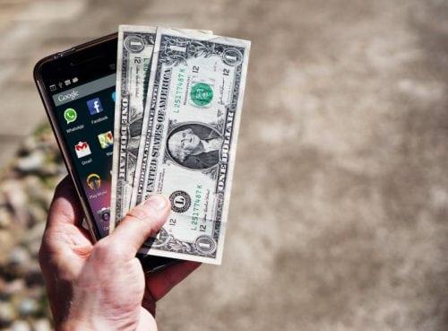 phone money saving cash