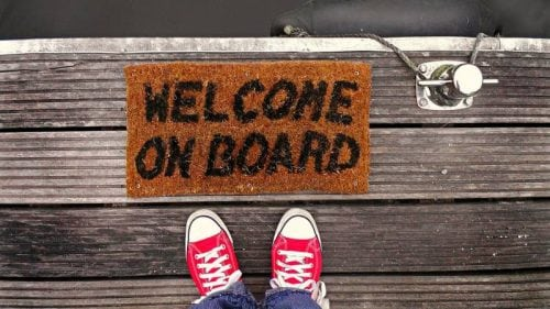 welcome onboard mat