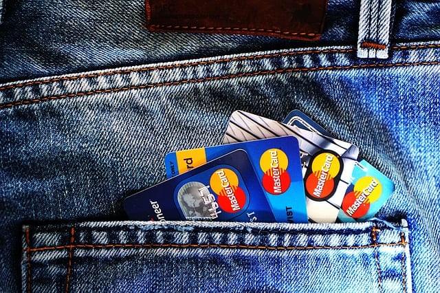 Credit cards in a pocket