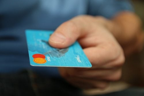 Paying with a debt mastercard