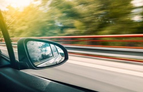 Blur outside of a car window