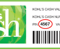 kohls cash example