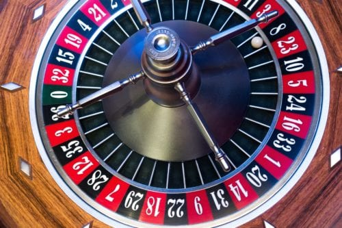 Shot of a roulette wheel