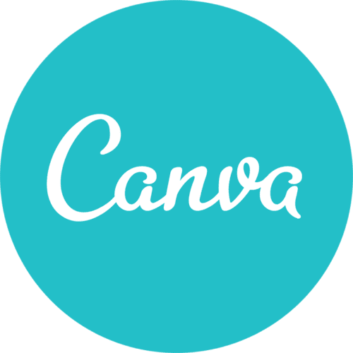 Logo for Canva, which is a blue circle