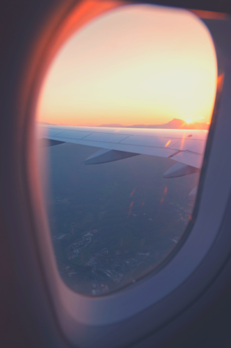 image of view looking outside of an airplane window