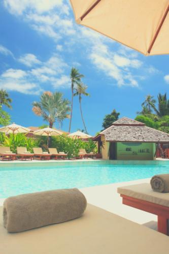 image of a cabana beside a pool