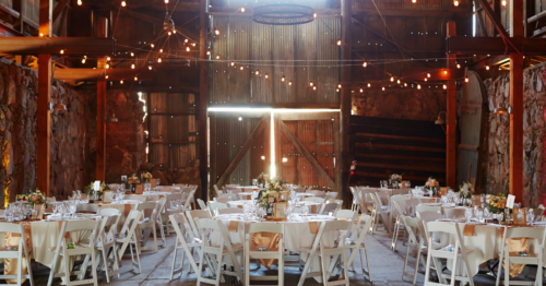 Country chic wedding decor
