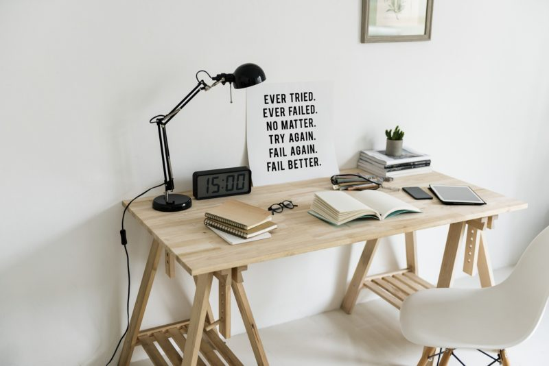 A minimalist workspace